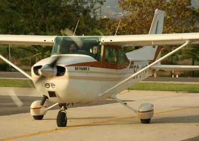 Battesimo aereo, rotte nel Cessna