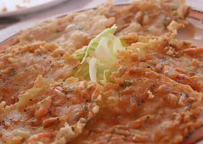 Shrimp omelete