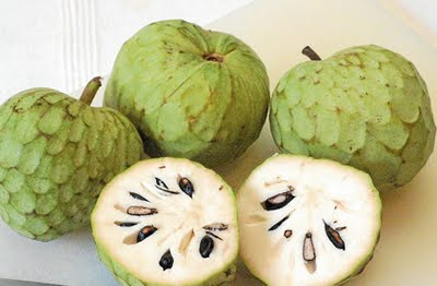 Cherimoya healthy and rich seasonal fruit