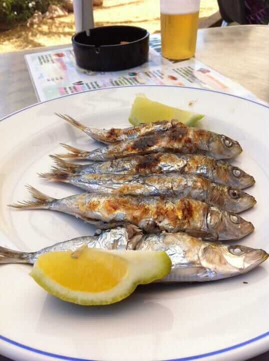 Sardine espetos, you can not miss them ...
