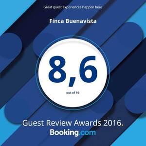 Booking.com 2016 Award para Finca Buenavista