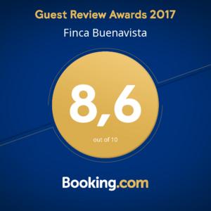 Booking.com 2016 Award para Finca Buenavista #guestsloveus