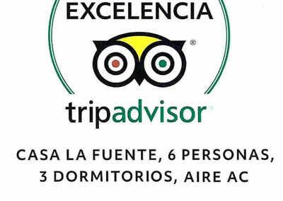 certificado-excelência-tripadvisor-casa-la-fuente-2018