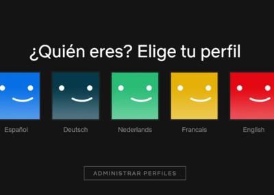 Netflix idiomas