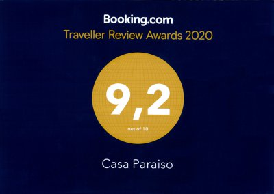 Booking award 2020 Casa Paraiso